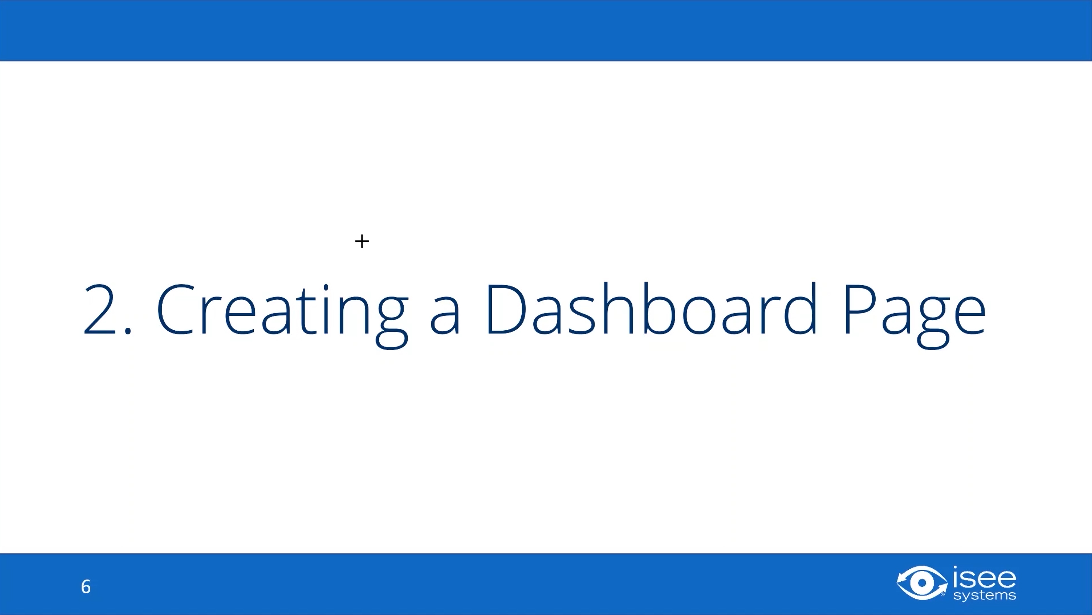Creating a Dashboard Page