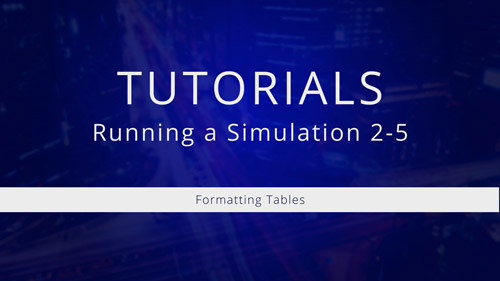 Watch Tutorial 2-5: Formatting Tables